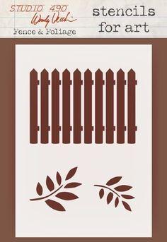 Wendy Vecchi Stencils For Art - Fence & Foliage