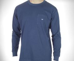 Southern Marsh Collection — Long Sleeve SouthernClassics Embroidered Pocket Tee