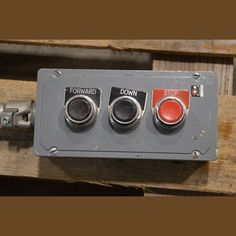 3 Button Box Complete with Forward/Down/Stop Buttons Location: British Columbia, Canada View more Push Buttons & Switches Electrical Equipment, Buttons, Plugs