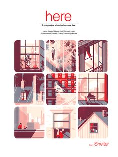 Here magazine on Behance ( I've just started on Behance - like the idea of producing a magazine or similar...I'll look into it shortly).