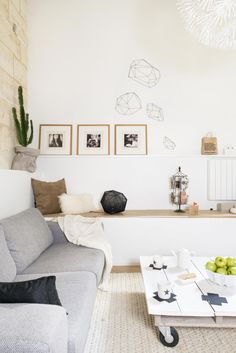 Modern scandinavian with geometric accents. Via What a wonderful home