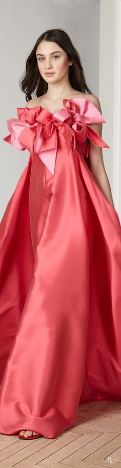 @roressclothes clothing ideas #women fashion red dressPre-Fall 2017 Alexis Mabille: