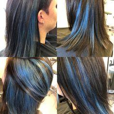 #coiffurecitylangenthal #bluehair #crazycolor #schwarzkopfproch #unschlaghaarschön   @rebeccavonallmen Make Up, Hair Styles, Beauty, Hair, Hairstyle, Hair Plait Styles, Hairdos, Haircut Styles, Beauty Makeup