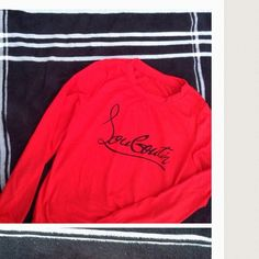 Red/black CL sweaters Please note these are Not authentic CL. I have sizes small medium and large available (they run a bit small) I also have a black sweater with red logo sizes small and medium Christian Louboutin Tops Sweatshirts & Hoodies