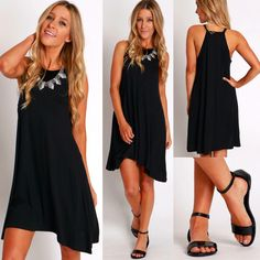 Say hello to the most comfortable dress EVER & look at how cute those sandals are! Solid Tank Dress Black ($22.99 #4thandocean) Patent Strap Flat Sandals ($19.99 #statements) Stores are open today from 10-8p! Come shop with us or check out what's new online at sophieandtrey.com with F R E E shipping on all orders! XO #shoplocalorlando #summer #spring #orlando #lbd #sophieandtrey #boutique #dress #womenswear #weshipfree #freeshipping #fashion #tanktop #sandals #springbreak