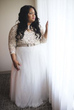 23 Beautiful Curvy Brides Who Are Slaying This Whole Wedding Thing Plus Size GownsTulle