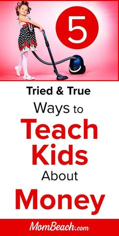 Teaching kids about money can be highly rewarding for both kids and parents. Use these 5 tried and true ways to teach your child about money. Teaching Kindergarten, Teaching Kids, Kids Learning, Learning Activities, Kids And Parenting, Parenting Hacks, Kids Savings Account, Learning Money, Chores For Kids