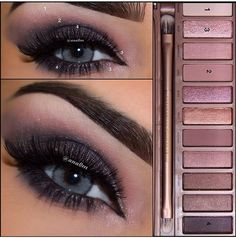 Naked palette look. Smokey eye