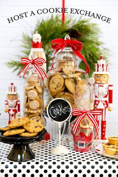 Learn how to host a cookie exchange party with tips, free printable recipe card, ideas, and more for the perfect party!