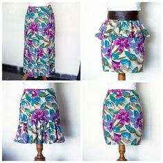 Wardrobe Recycle: The 3 Ways Skirt Refashion! #skirt #refashion