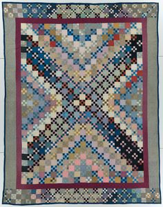 International Quilt Study Center & Museum : Collections : Quilt of the Month Oct. Nine Patch by Barbara Yoder c. Antique Quilts, Vintage Quilts, Vintage Sewing, Amische Quilts, Sampler Quilts, Strip Quilts, Nine Patch Quilt, Hand Quilting, Quilt Making
