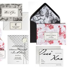 "Brides.com: . ""Devoir"" wedding invitation suite, starting at $3,180 for 100 invitation suites, Bliss & Bone"