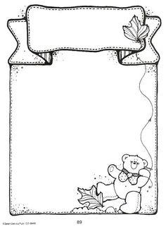 clip - Espe Escribano - Picasa Web Albums Boarder Designs, Page Borders Design, Page Design, Fall Coloring Pages, Printable Coloring Pages, Coloring Books, Printable Labels, Borders For Paper, Borders And Frames