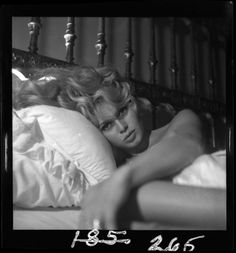 Peter Basch :: a 1957 vintage and original camera negative that comes from the estate collection of glamour, pin-up, and celebrity portraitist. A moody vixen portrait of gorgeous French actress Brigitte Bardot in a tantalizing boudoir view. A rare...