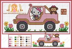Small Cross Stitch, Cross Stitch Charts, Cross Stitch Patterns, Hello Kitty, Bead Crafts, Diy And Crafts, Brother Innovis, Hello Sanrio, 257