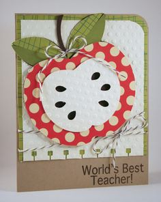 apple teacher card - very cute