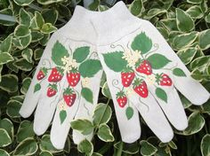 Chic Hand Painted Shabby Strawberry by vintagebeachcottage on Etsy