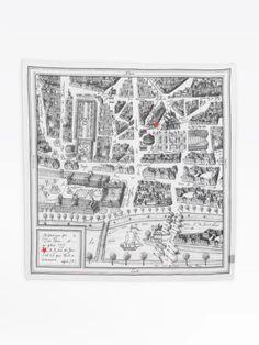 carré Rue du Jour en coton | agnès b. Leather Box, Dark Brown Leather, Rain Hat, Paris Map, Square Scarf, Zebra Print, Rue, Womens Scarves, Finding Yourself