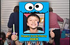 Cookie Monster Birthday Party Photobooth Frame | Cookie Monster | Instagram Frame | Sesame Street Frame | Birthday Props | Photo Props by MustHaveThese on Etsy