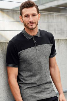21 Sophisticated Polo Shirt Looks To Wear For Any Occassion The term Polo shirt was originally used to describe the long sleeved, thick button down shirts used to play Polo. In the a tennis shirt embroidered with a polo player on it was the first of Polo Shirt Style, Polo Shirt Outfits, Polo Shirt Design, Polo Design, Mens Polo T Shirts, Tennis Shirts, Casual Wear For Men, Casual Fall Outfits, Le Polo