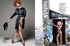 """""""Tutti Fruty"""" As modelos Lisa Cant e Darla Bake foram fotografadas por Simon Upton para a edição de abril da Harper's Bazaar Singapura"""