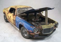 1970 Chevy Camaro Weathered Barn Find Drag Car Rat Rod 1/18 Diecast Auto World…