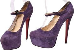 b4bb635592cb Christian Louboutin Purple Lady Highness Suede Pumps Platforms Size US 8.5  Regular (M