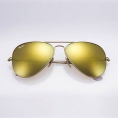 ray ban yellow lens aviator  ray ban original rb3025 112/93 aviator non polarized sunglasses, matte gold
