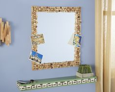With a little help from your Dremel Multi-Max and some old corks, you can embelish an old mirror to add texture to any wall in your home.  Visit #DremelWeekends for instructions.