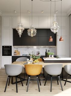 Contemporary Kitchen Cabinets, Modern Kitchen Design, Contemporary Interior, Modern Interior Design, Interior Design Kitchen, Luxury Interior, Pastel Interior, Tropical Interior, Interior Shop
