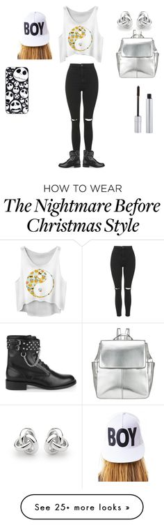 """Grunge"" by nguyenheidigalh on Polyvore featuring moda, Topshop, Yves Saint Laurent, Kin by John Lewis, BOY London, Georgini i T. LeClerc"