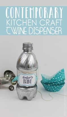 This lovely and useful contemporary baker's twine string dispenser is part of our matching contemporary kitchen craft series. It's easy and fun to make!