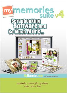 My Memories Suite digital scrapbooking software.  Awesome, and easy to use.  Use this promo code: STMMMS68335 at checkout for $10 off plus $10 gift certificate to use in the online store!!  Such a great deal!!!