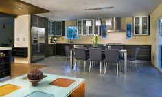 SEMCO Seamless Stone flooring in Color Bond Silver Stone. Kitchen flooring, remodel without removal.