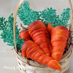 Hungry Happenings: Crescent Roll Cream Horn Carrots for Easter Brunch