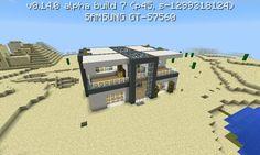Minecraft PE moderní dům