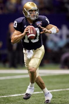 "Brady Quinn. Like the Irish? Be sure to check out and ""LIKE"" my Facebook Page https://www.facebook.com/HereComestheIrish Please be sure to upload and share any personal pictures of your Notre Dame experience with your fellow Irish fans!"