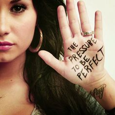 Demi Lovato Love is louder than the pressure to be perfect.self harm truth. Quote Girl, Pictures Of The Week, My Escape, Big Fish, Favim, Body Image, The Girl Who, Personal Branding, Words Quotes