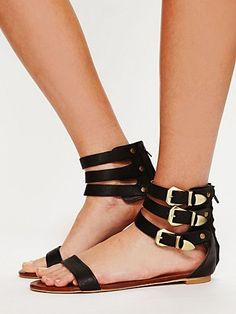 Jeffrey Campbell Jasper Buckle Sandal at Free People Clothing Boutique - StyleSays