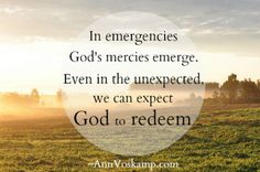 When You're Praying for Boston: In emergencies God's mercies emerge. Even in the unexpected we can expect God to redeem. AnnVoskamp.com