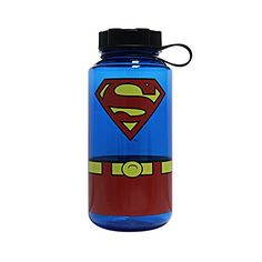 Silver Buffalo SP0119 DC Comics Superman Uniform Plastic Water Bottle 338ounces 1 Liter * You can get more details by clicking on the image.Note:It is affiliate link to Amazon.