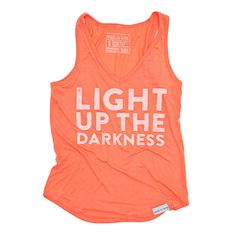 Light up the Darkness Coral Women's Tank | walk in love.