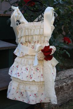 Vintage ivory lace and floral cotton petti by cookiesandcostumes, $49.00