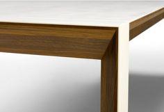 Table de repas Pure extensible bois et Corian 8 P à 16 P Nissen & Gehl : Tables de repas design Naver - Design Ikonik