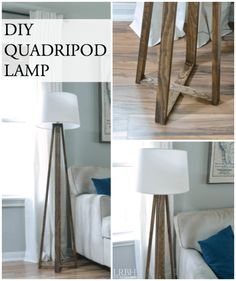 Build Your Own DIY Quadripod Lamp | LITTLE RED BRICK HOUSE