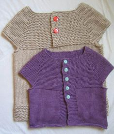 top down, round yoke, garter stitch yoke vest pattern - pattern in Japanese AND English!