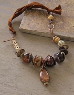 pinterest sari silk necklaces   Indio+necklace+red+agate+carved+bone+sari+silk+by+StudioEgallery,+$55 ...