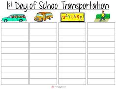 How will your students get home on the first day of school?  Have parents fill in this vital information when they come to Meet the Teacher Night.  This will make Back to School & dismissal so much easier!