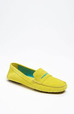 Manolo Blahnik Driving Moccasin available at #Nordstrom (but in Hazel, not yellow)