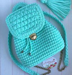 Crotchet Bags Knitted Bags Crochet Backpack Crochet Girls Girls Bags T Shirt Yarn Saddle Bags Fashion Backpack Purses And Bags Crochet Backpack Pattern, Crochet Purse Patterns, Crotchet Bags, Knitted Bags, Crochet Handbags, Crochet Purses, Crochet Girls, Cute Crochet, Crochet Octopus